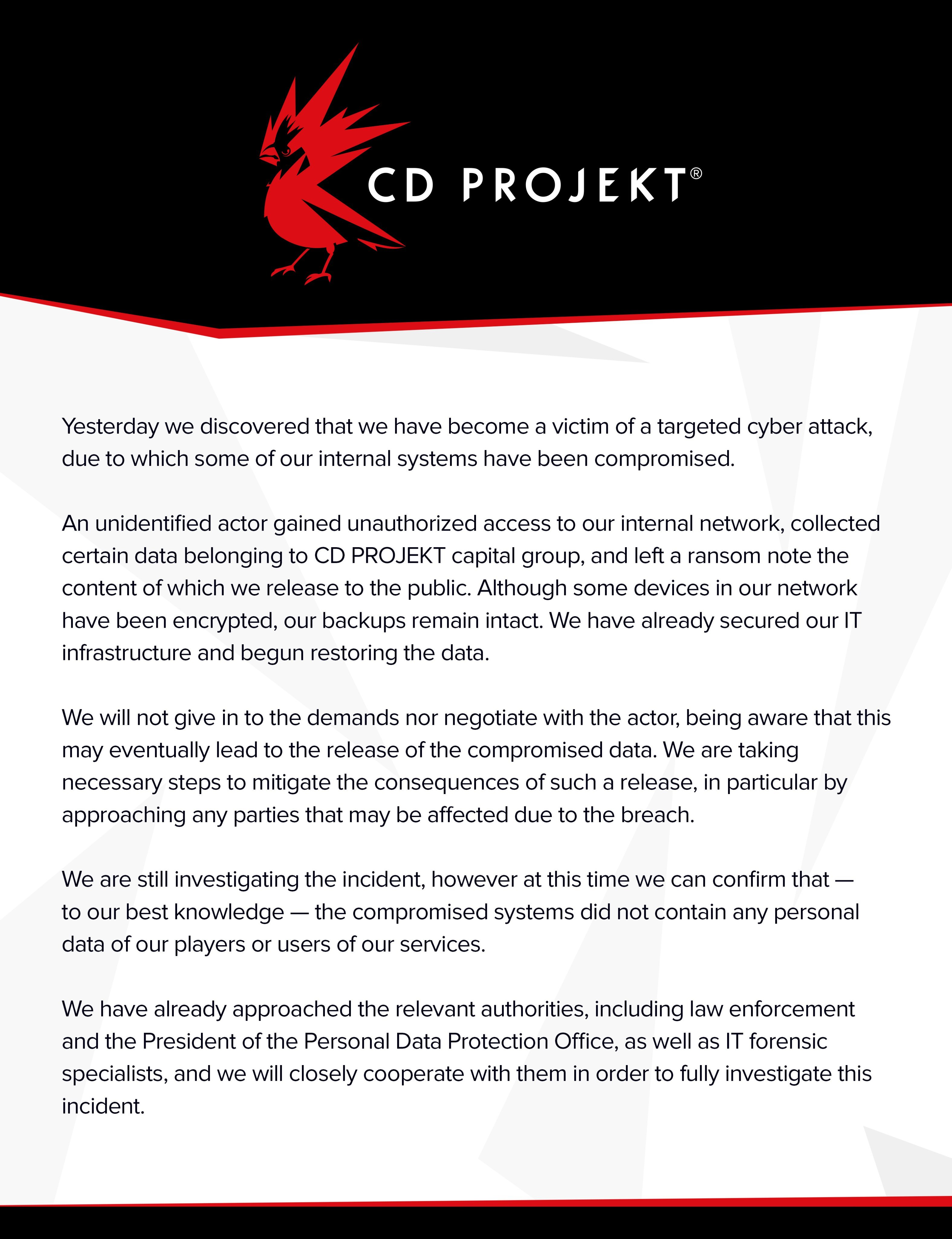 CD Projekt RED Hacklendi