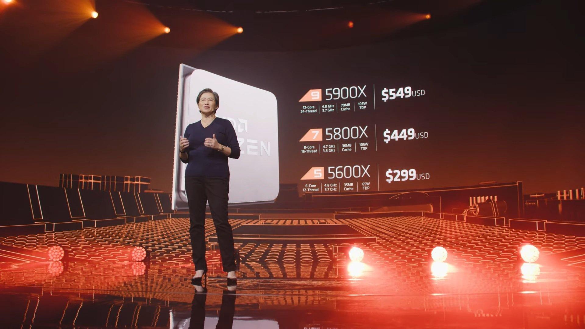 AMD ZEN 3 Ryzen 5000 Serisi İşlemcileri Tanıttı